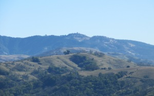 image of Sierra Vista Open Space Preserve in the foreground with Lick Observatory in the background