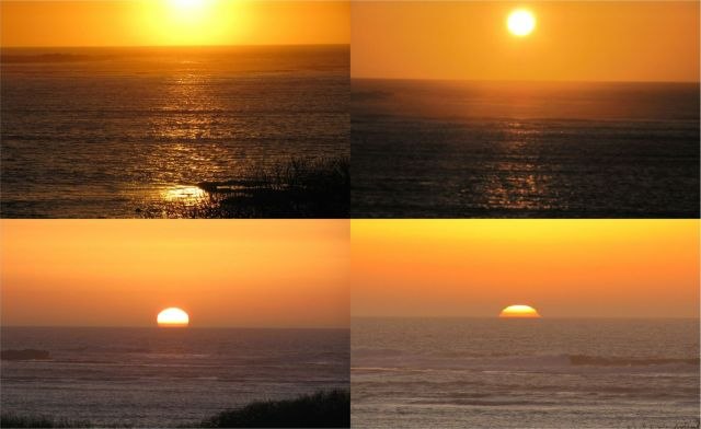 images of sunset in the Pacific at Año Nuevo