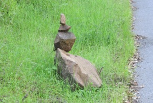 image of beautiful cairn along Old Page Mill Rd