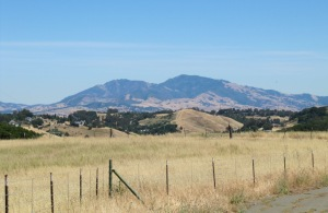 image of Mt Diablo -- hard to miss!