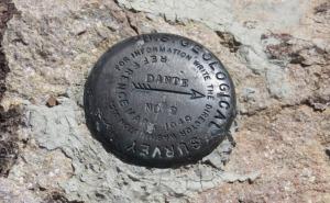 photo of geomarker on Dante's Peak