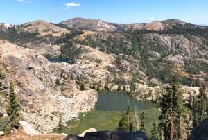 image of Devil's Oven Lake, from the overlook